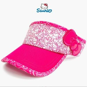 Hello Kitty Pink and White Bow Golf Visor